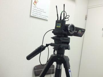 撮影用「カメラとマイク
