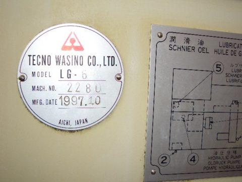 【Sold out】 NC櫛刃型旋盤/LG6/テクノワシノ/1997の写真04