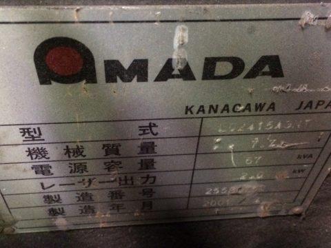 【Sold out】レーザー加工機/アマダ/LC-2415αⅢNT/2001年の写真04