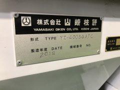 【Sold Out】【売切れ】【中古機械】NCフライス盤/山崎技研/YZ-400SG ATC/2018年式の写真09